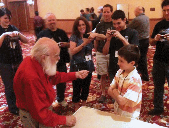 James Randi with Connor Drescher