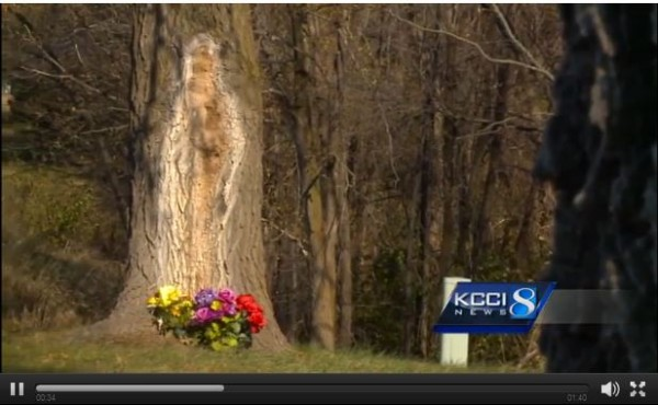 Screenshot of broadcast by KCCI