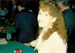 Me (blown out by the flash), at the Monte Carlo party, before I saw the psychic.