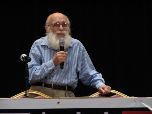 ... and of course the man who puts the JR in JREF and the A in TAM, the Amazing Randi himself.  Photo by Dean Baird